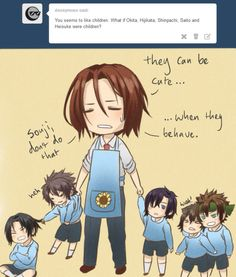Sano Harada....OMG this is adorable.... Hakuouki boys as kids