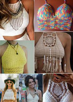 Blusas de Crochê: Modelos, Gráficos e fotos passo a passo