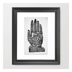 Hand Framed Art Print ($37) ❤ liked on Polyvore featuring home, home decor, wall art, framed art prints, black wall art, home wall decor, hand illustration, hand wall art and framed wall art