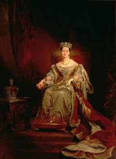 Hayter, George (1792-1871) - 1838 Queen Victoria seated on the Throne in the House of Lords (Guildhall Art Gallery, London)
