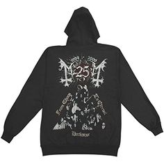 Mayhem Men's Zippered Hooded Sweatshirt Black - http://bandshirts.org/product/mayhem-mens-zippered-hooded-sweatshirt-black/