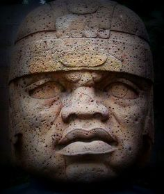 Olmec Colossal Head  Olmec Colossal Head No. 1 discovered at the Olmec settlement of  Tres Zapotes in 1939. Photographed at the Museum of Anthropology in Xalapa, Veracruz, where F and I walked through the most important collection of pre-Columbian works including these wondrous heads.