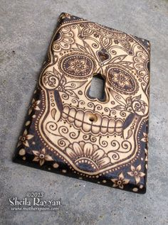 wood-switch-plate-cover-sugar-skull