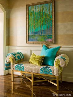 Colors in this painting can be adapted to match any room.