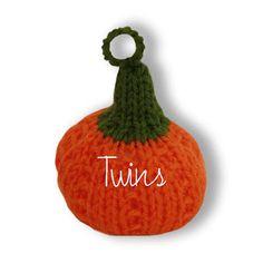 Twins' Knitting Pattern MiniShop: Pumpkin - free knitting pattern