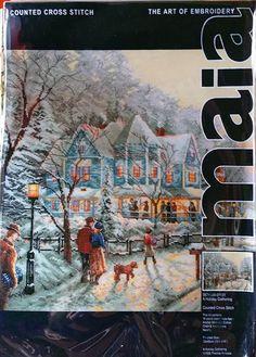 Thomas Kinkade A Holiday Gathering 01131 Maia Cross Stitch Kit