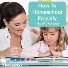 Tips & Resources for frugal homeschooling.