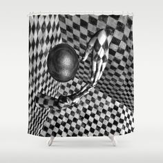 Abstract Handball 2 Shower Curtain