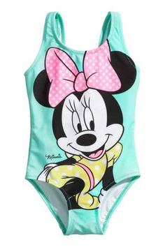 H&M Swimsuit with Printed Design Minnie Mouse Swimsuit, Baby Swimsuit, Minnie Mouse Shirts, Cute Girl Outfits, Toddler Outfits, Fashion Kids, Toddler Fashion, Luxury Baby Clothes, Toddler Swimsuits