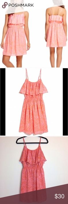 """Lilly Pulitzer for Target Giraffe Flounce Dress Beautiful Pink flounce dress by Lilly Pulitzer for Target. Has a subtle Giraffe print. Size small. Armpit measurement is 17. Elastic waist is 11.5"""" unstretched. Lilly Pulitzer for Target Dresses"""