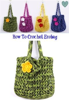how to crochet Ecobag