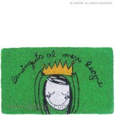 """Laroom - Felpudo verde """"el meu regne"""" - Laroom dissenya i fabrica productes per a la llar i la vida - www.laroom.com"""