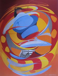 Oscar Howe (Yanktonai Dakota, 1915–1983): 'Ghost Dancer'