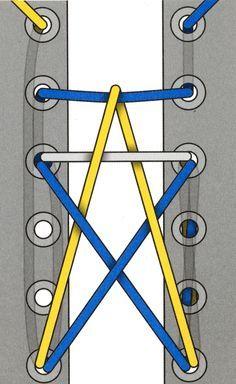 die 45 wege sich die schn rsenkel zu binden malen schn rsenkel und binden. Black Bedroom Furniture Sets. Home Design Ideas