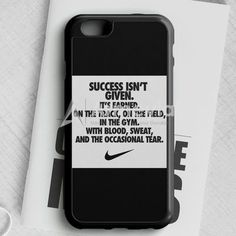 Success Isnt Given Nike iPhone 6/6S Case | armeyla.com