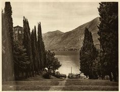 vintage photo of Lake Como, 1922 Vintage Photographs, Vintage Photos, Comer See, Hotels, Living In New York, Lake Como, Original Image, Continents, Vintage Art
