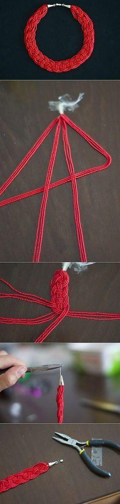 Эффектное и простое в работе ожерелье из бисера   СВОИМИ РУКАМИ