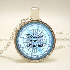 GRADUATION GIFT Follow your Dreams Pendant by RosiesPendants