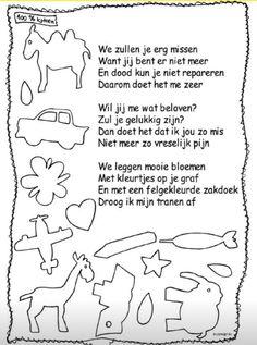Gedichtje voor jonge kinderen over afscheid
