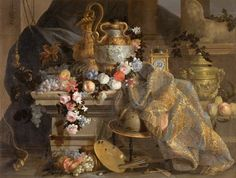 Jean Baptiste Monnoyer, Still Life with Flowers and Fruits, 1665