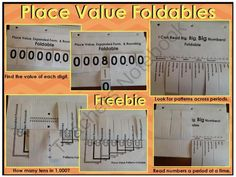 Place Value Foldables Freebie from Brooke Eagerton on TeachersNotebook.com (9 pages)  - This package contains three place value foldables. The foldable may be used to discuss place value patterns.