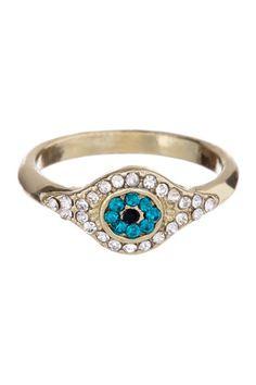 Evil Eye Ring by Boho & Bourbon on @HauteLook