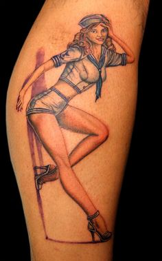 i will get a nautical pin up girl tattoo.