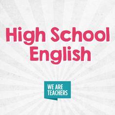 We Are Teachers, High School English, Teaching English, Grammar, Classroom Ideas, Literature, Knowledge, Activities, Education