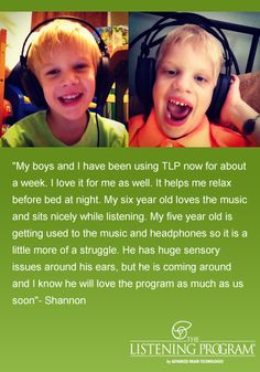 Nothing makes us happier than getting a testimonial like this from people using our products. @Dave Generations Rescue   thanks for sharing this family, who are off to a great start with The Listening Program! We look forward to updates as they continue their protocol! Learn more about TLP: http://adbn.co/so0Erp