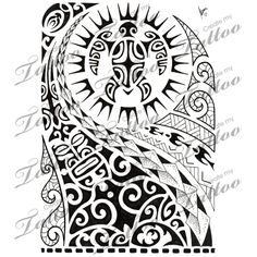 Marketplace Tattoo Polynesian half-sleeve 02 #8516 | CreateMyTattoo.com