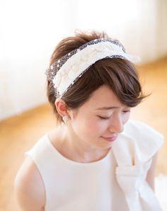 笑顔を爽やかに彩るエアリーなヘアバンド Up Styles, Hair Styles, Wedding Images, Band, Fashion, Moda, Sash, Hairdos, Ribbon