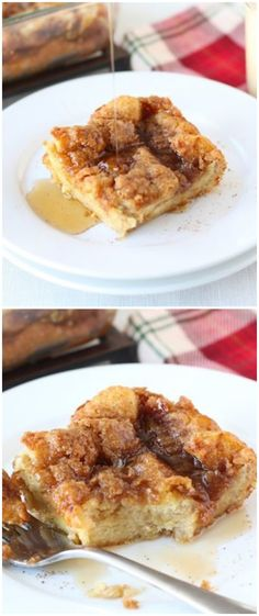 Baked Eggnog French Toast Recipe on twopeasandtheirpod.com The perfect breakfast for the holidays!