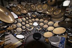 Terry Bozzio`s Drums  This kit would be ridiculous for any other drummer to own, but since it's Terry Bozzio, it's ok.
