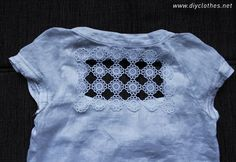 » Shirt refashion with crochet doily - DIY Clothes