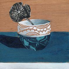 Nasturium Modern Kitchen Art Print by FionaRoderick on Etsy, $30.00