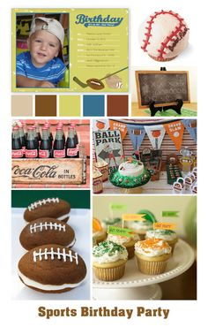 Sports with a touch of vintage: Boy's Birthday Party Inspiration