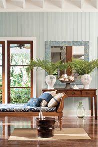 Sitting area by window in Benjamin Moore Wickham Gray