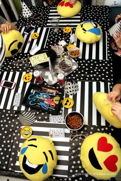 real party - emoji birthday party on eye candy creative studio