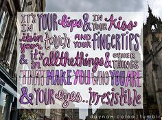 Irresistible by One Direction Lyric Art by daynanicolea on Etsy, $10.00
