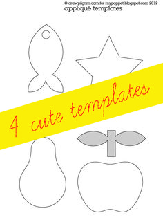 How To: Applique Template Free Printable ▽▼▽ My Poppet : your weekly dose of crafty inspiration