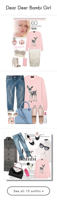 """""""Dear Deer Bambi Girl"""" by yours-styling-best-friend ❤ liked on Polyvore featuring love, deer, bambi, Coast, Smashbox, Markus Lupfer, Kate Spade, Gianvito Rossi, Bliss and Michael Kors"""