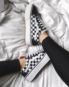 Vans Checkerboard Old Skool Sneaker from Love Saved to Shoes. Shop more products from Love on Wanelo. Vans Sneakers, Tenis Vans, Women's Vans, Vans Platform Sneakers, Vans Shoes Outfit, Shoes Addidas, Casual Shoes, Black Shoes Sneakers, Vans Logo