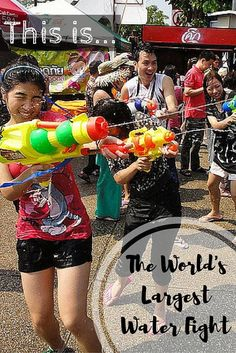 Holy moly! Did you know Thailand hosts the world's largest water fight? This is one way to celebrate New Year's...