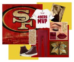 """49ers!"" by divergent99 ❤ liked on Polyvore featuring The Row and Converse"