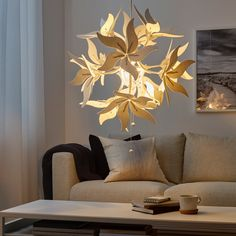 RAMSELE Pendant lamp, flower, white, RAMSELE pendant lamp is based on a geometric shape with sheets of textiles or felt. You can dim it by pulling the strings – while changing the shape of the lamp in an exciting way. Ikea Flower Light, Flower Lamp, Flower Lights, Room Interior Design, Dining Room Design, Furniture Design, Interior Decorating, Clear Light Bulbs, I Love Lamp