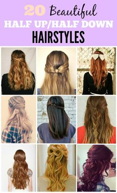 20 Beautiful Half Up Half Down Hairstyles You'll Want to Bookmark!