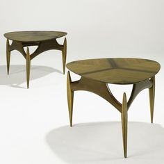 Anonymous; Walnut Occasional Tables, 1950s.