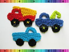 Ravelry: Truck Applique-3 designs pattern by Patricia Eggen