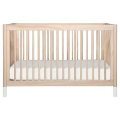 Babyletto Gelato 4-in-1 Convertible Crib with Changing Tray - Washed Natural