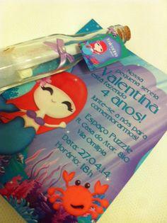 Convite Festa pequena sereia